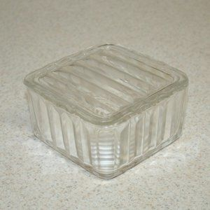Vintage Federal Glass Refrigerator Storage Jar